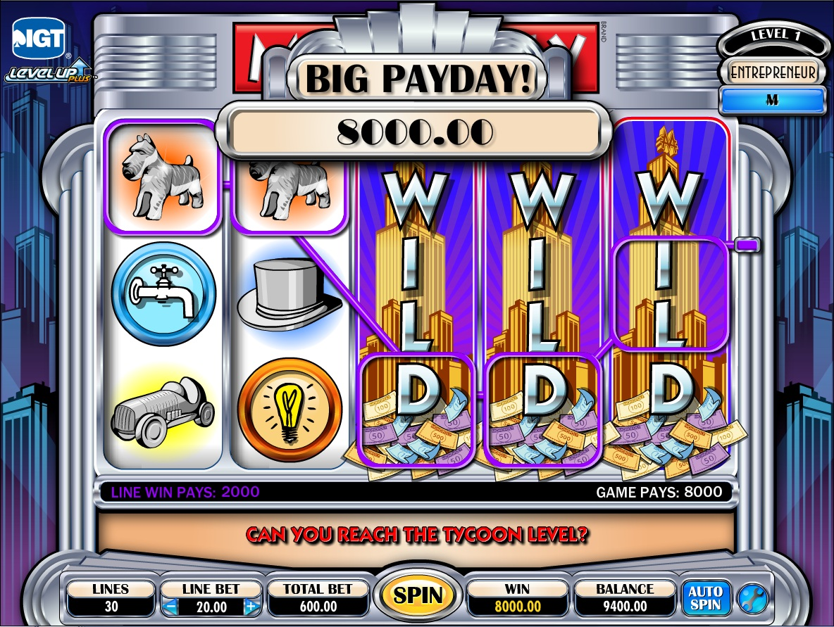 monopoly casino slot game