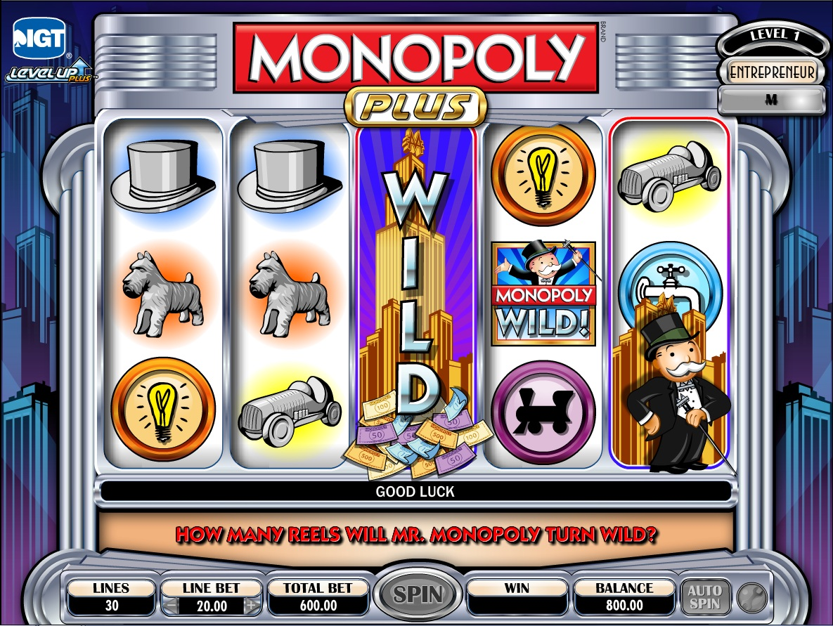 monopoly slot machine game online