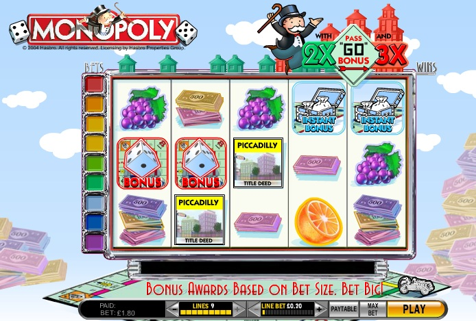 Monopoly With Pass Slot Machine